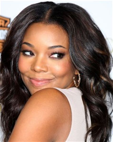 How Many Inches Is Gabrielle Union Weave | gabrielle union center part volume waves world hair