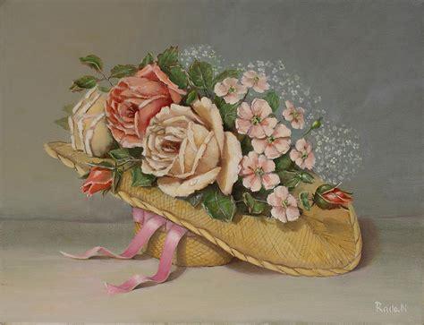 shabby chic roses painting by radoslav nedelchev