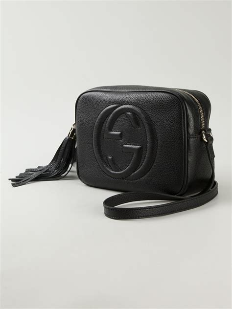 Gucci Crossbody 372180 Set 2 In 1 lyst gucci soho leather cross bag in black