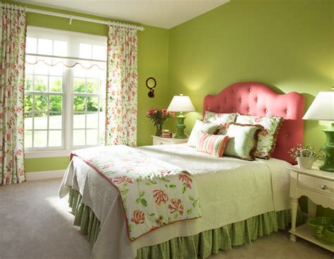 green bedroom decor pink and green bedroom