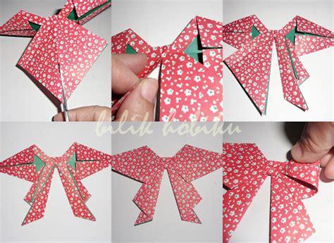 cara membuat origami yang mudah dan cantik origami beautiful bow