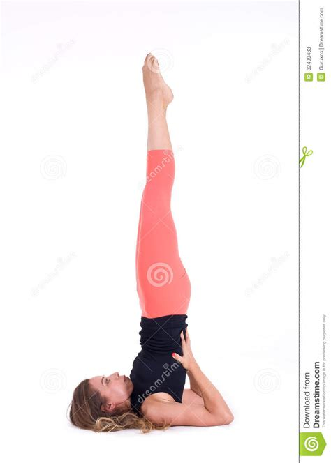 posizione a candela practicing exercises shoulderstand sarvangasana