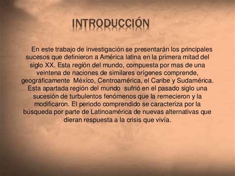 siglo 20 los sucesos mas destacados e importantes am 233 rica latina entre 1900 y 1960