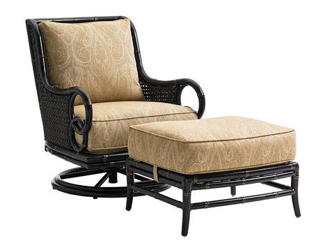 Swivel Rockers With Ottomans Bahama Outdoor Living Marimba Outdoor Swivel Rocker Lounge Chair And Ottoman Set Reeds