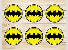 Batman Sticker // Batman Cupcake Topper // Batman Party Favors
