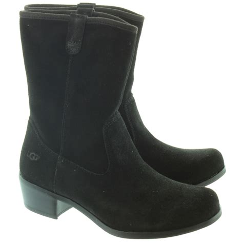 ugg boots black ugg briar calf boots in black in black