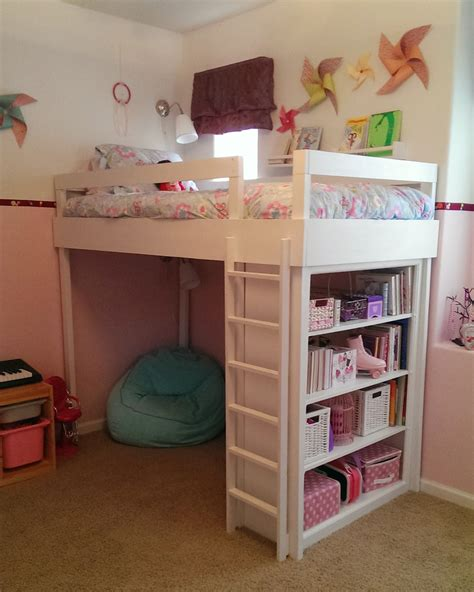 loft bed for girls lovely neighbors diy loft bed for little girl s room