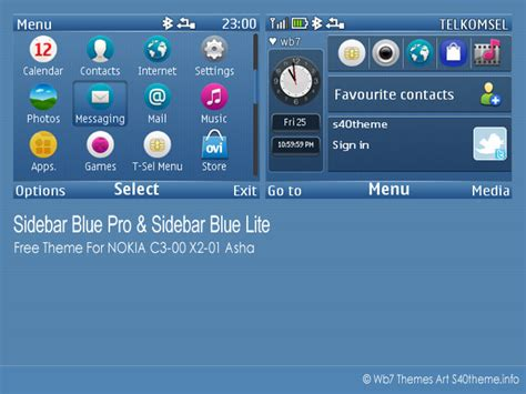 themes to download for nokia asha 201 sidebar blue pro lite for nokia c3 00 x2 01 wb7themes
