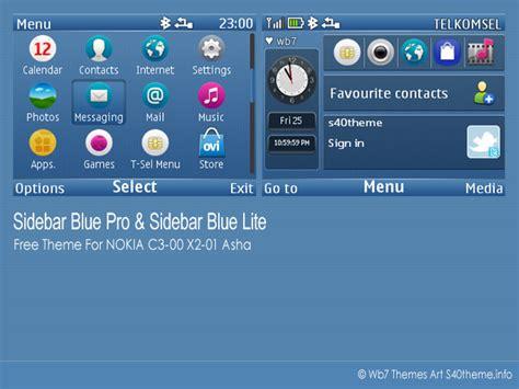 themes to download for nokia asha 201 sidebar blue pro lite for nokia c3 00 x2 01 asha 200