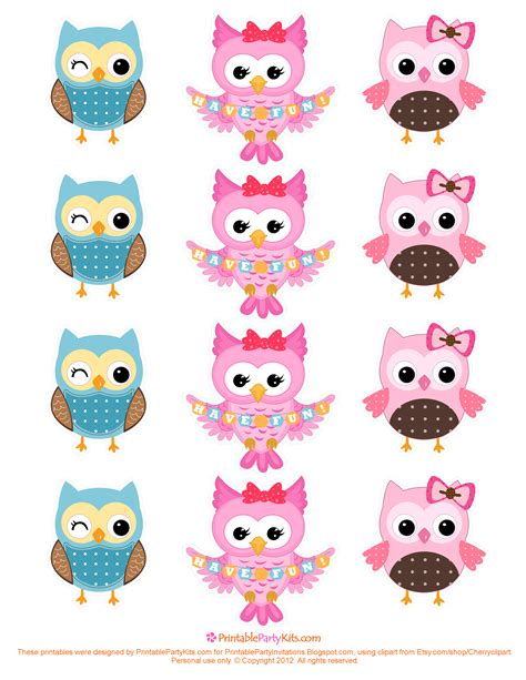 printable owl free free printable party invitations owl cupcake toppers