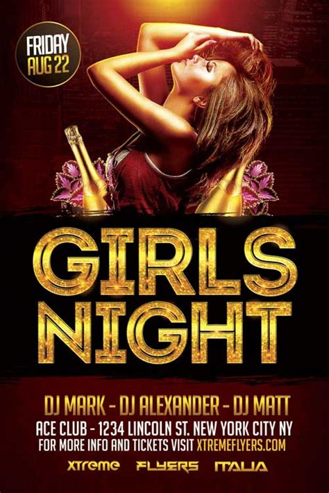 Ladies Night Flyers Designs flyer template psd xtremeflyers