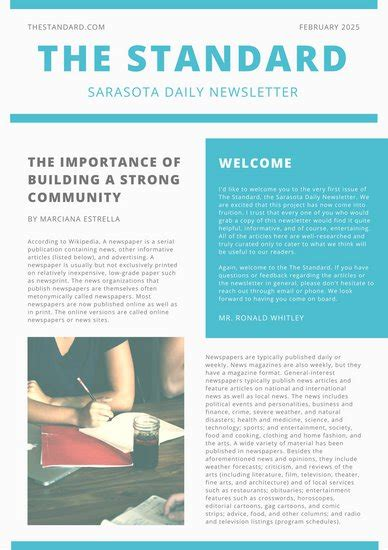 Newsletter Templates Canva Canva Newsletter Template