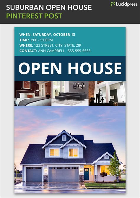 real estate open house flyer template pack trainer sle