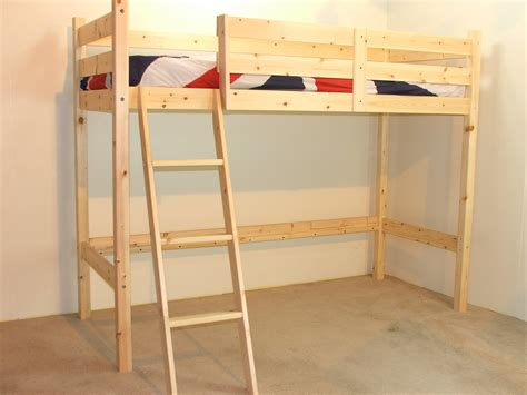 One Bed Bunk Bed Oscar 3ft Single Length Pine Low Loft Bunk Bed No Bookcase