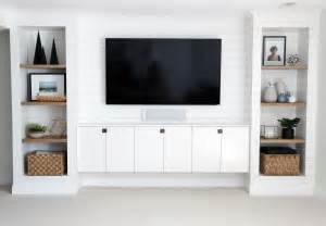 Under The Cabinet Tv For The Kitchen diy shiplapped built ins finished and styled chris