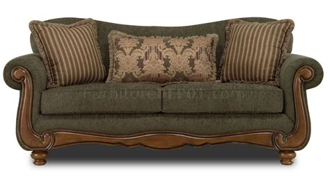 traditional couch pine fabric traditional sofa loveseat set w rolled arms
