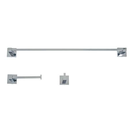 3 piece bathroom accessory set italia capri 3 piece bathroom accessory set in polished chrome ca3set the home depot