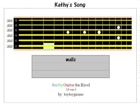guitar tutorial kathy s song jjg s kathy s song guitar lesson youtube