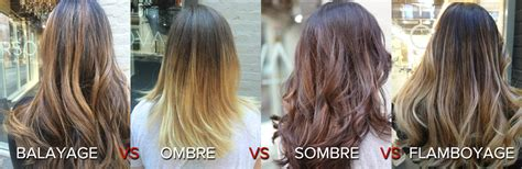 balayage hair color vs ombre balayage vs flamboyage vs ombre vs sombre vs foiling