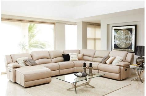Recliner Modular Lounge Suites by Almere Leather Modular Recliner Lounge Suite