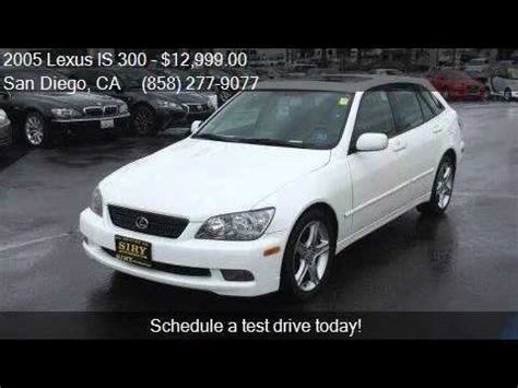 2005 lexus is wagon 2005 lexus is 300 sportcross 4dr wagon for sale in san
