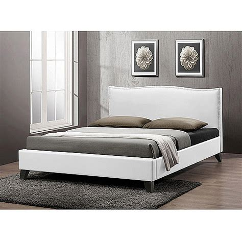 walmart white headboard battersby modern full bed with upholstered headboard