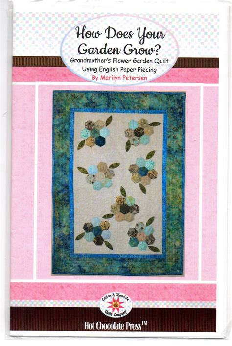 grandmothers flower garden quilt pattern grandmother s flower garden quilt pattern 24 quot x 34 quot