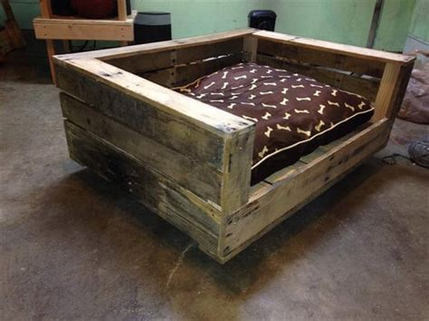 diy raised dog bed build a raised pallet dog bed 101 pallets