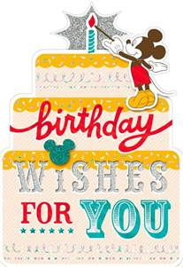 mickey mouse birthday wishes card greeting cards hallmark