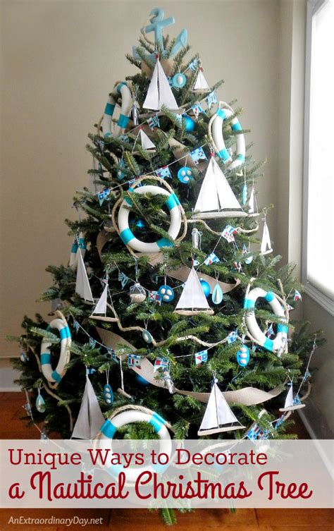 uniquely decorated christmas trees unique ways to decorate a nautical tree an extraordinary day