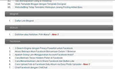 membuat link rpu cara membuat daftar isi sitemap blog otomatis new update