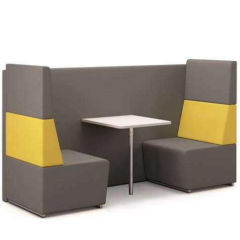 fifteen environments four seat low back booth hsi office