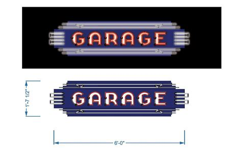 Garage Sign custom porcelain neon garage sign vault custom garages