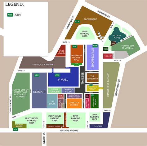 layout of green hills mall greenhills shopping center