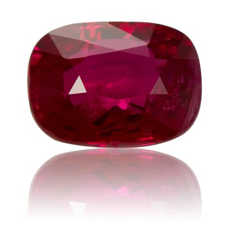 Ruby Birma burmese ruby cushion 1 02ct king gems