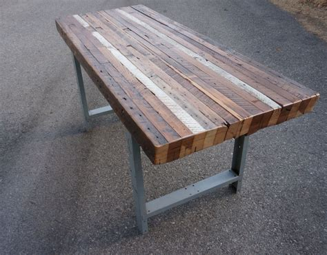 reclaimed wood table handmade custom outdoor indoor rustic industrial