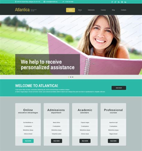 free website templates themes 27 free education website themes templates free
