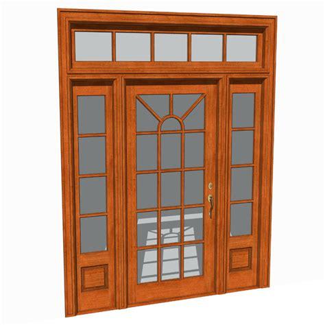 Front Door Set Front Doors Set 03 3d Model Formfonts 3d Models Textures