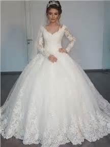 Sleeves appliques ball gown wedding dress amp modern hochzeitskleider