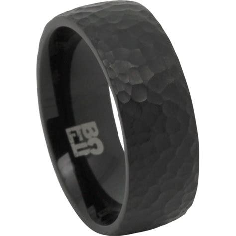 black ring textured black titanium ring