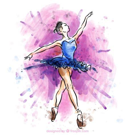 imagenes de bailarinas urbanas mano bailarina de ballet pintados descargar vectores gratis