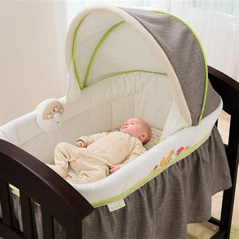 Baby Crib Vibration Machine by Summer Infant Classic Comfort Wood Bassinet
