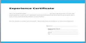 application format for experience certificate assignment