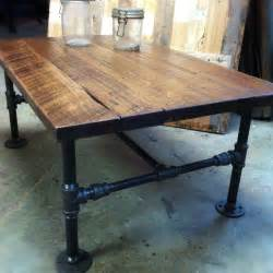 custom made industrial cast iron pipe coffee table by j amp s