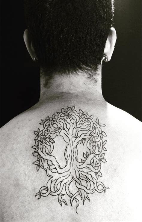 ink zone tattoo awesome black ink very beautiful mystical tree tattoo on
