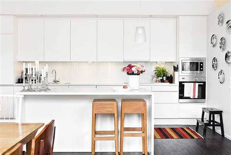 beautiful white modern kitchens beautiful white modern kitchen with colorful accessories interior design ideas