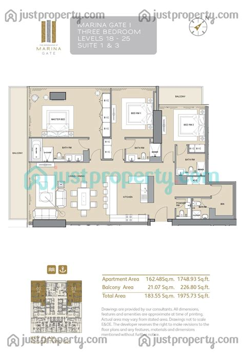 gate tower floor plan marina gate tower 1 floor plans justproperty com