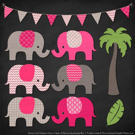 pink elephant pattern hot pink patterned elephant clipart and patterns