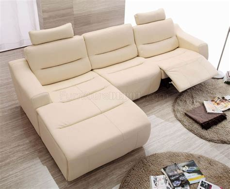 white leather  modern reclining sectional sofa  esf