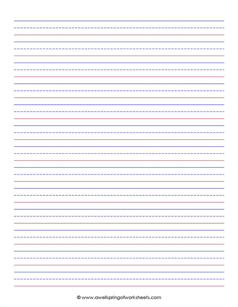 printable lined paper wide ruled on letter sized paper in portrait